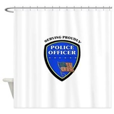 Police Serving Proudly Shower Curtain