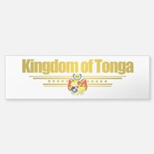 """Tonga Flag"" Bumper Bumper Sticker"