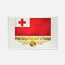 """Tonga Flag"" Rectangle Magnet"