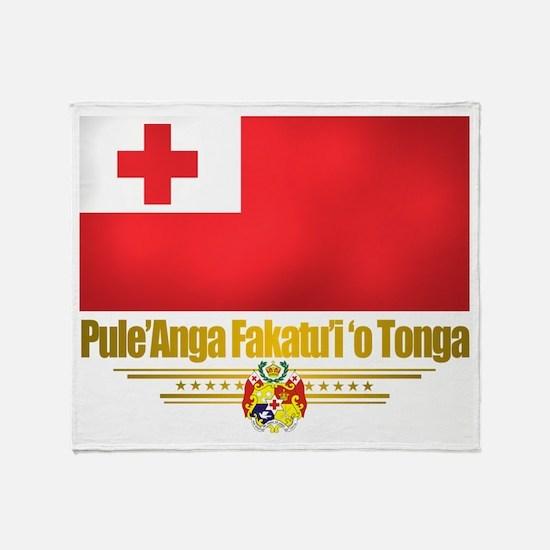 """Tonga Flag"" Throw Blanket"
