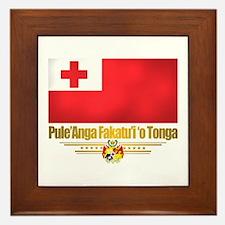 """""""Tonga Flag"""" Framed Tile"""