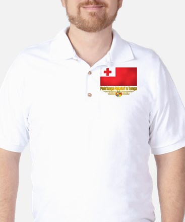 """Tonga Flag"" Golf Shirt"