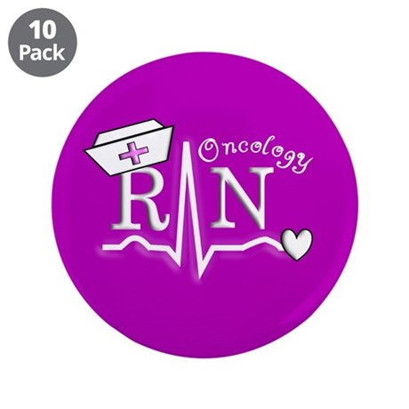 """Oncology Nurse 3.5"""" Button (10 pack)"""