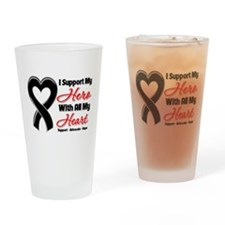 Melanoma Support Drinking Glass