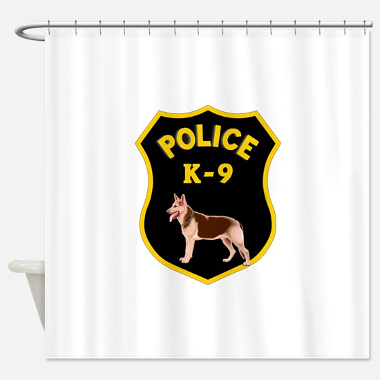 K9 Police Officers Shower Curtain