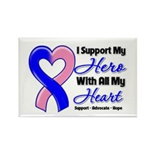 Male Breast Cancer Support Rectangle Magnet