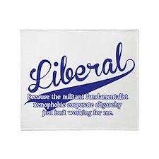 Liberal Throw Blanket