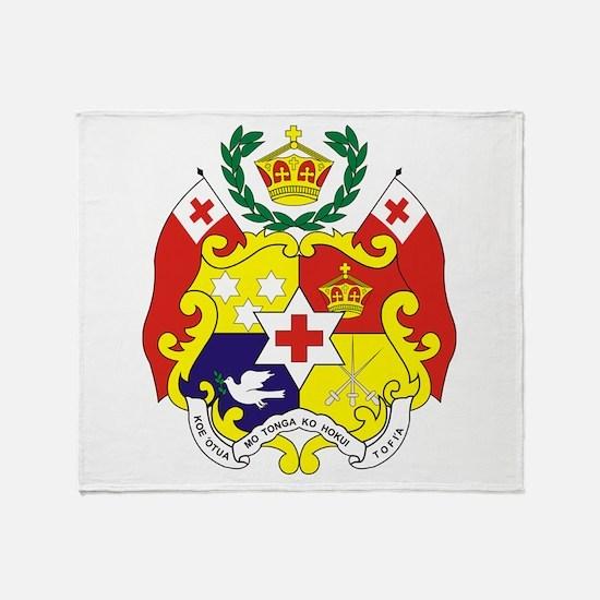 """""""Tonga COA"""" Throw Blanket"""