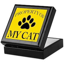 Property of My Cat Dark Yellow Keepsake Box