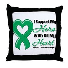 Liver Cancer Support Throw Pillow