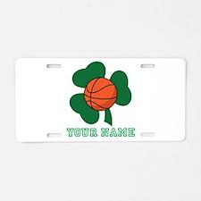 Personalized Irish Basketball Gift Aluminum Licens