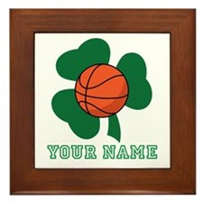Personalized Irish Basketball Gift Framed Tile
