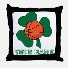 Personalized Irish Basketball Gift Throw Pillow