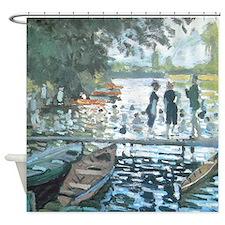Monet Bathing at La Grenouillere Shower Curtain