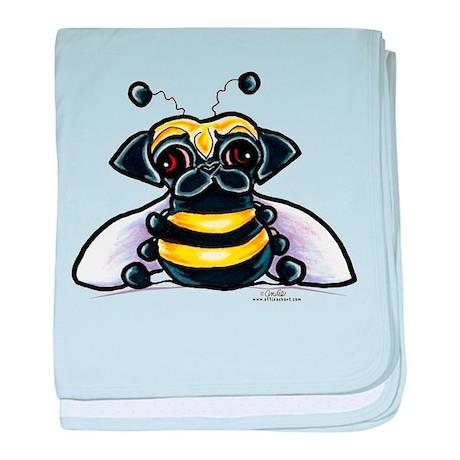 Cute Pug Bee baby blanket