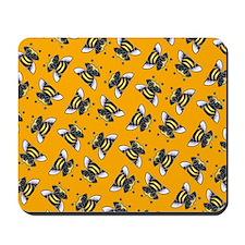 Pug Bees Orange Mousepad