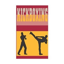 Kickboxing Rectangle Decal
