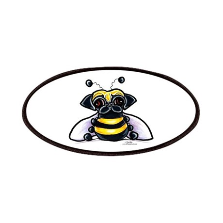 Cute Pug Bee Patches