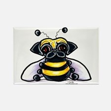 Cute Pug Bee Rectangle Magnet