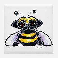 Cute Pug Bee Tile Coaster