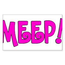 Meep! Decal