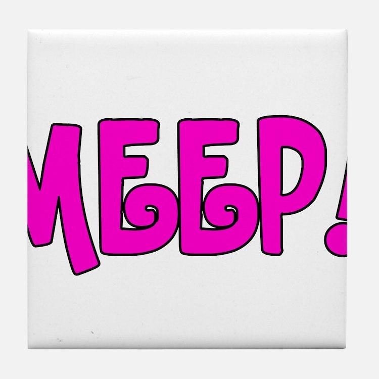 Meep! Tile Coaster
