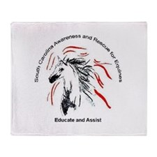 Educate and Assist Throw Blanket SCARE