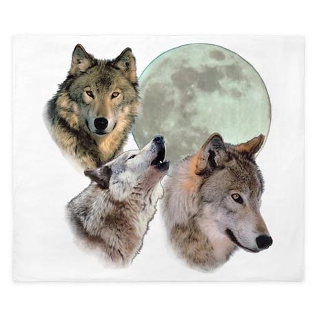 3 Wolf Moon King Duvet