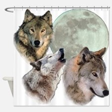 3 Wolf Moon Shower Curtain