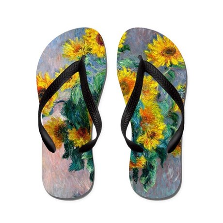 Monet - Sunflowers Flip Flops
