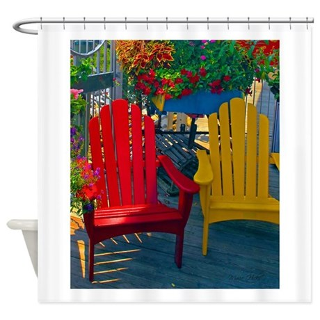 Beach Town Charm Shower Curtain