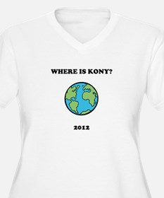 Where is Kony 2012 Women Plus Size V-Neck T-Shirt