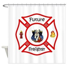 Future Firefighter Red Shower Curtain