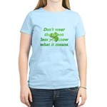 Green Means Women's Light T-Shirt