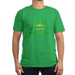 Green Means Men's Fitted T-Shirt (dark)