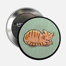 Sleeping Orange Kitty Button