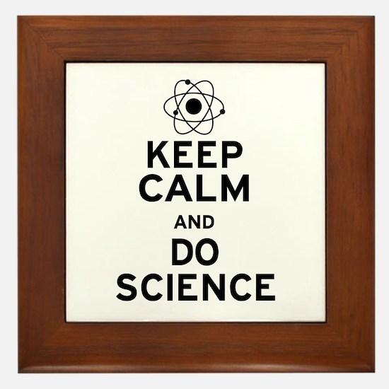 Keep Calm and Do Science Framed Tile