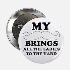 """My mustache 2.25"""" Button"""