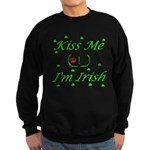 Kiss Me (_!_), I'm Irish Sweatshirt (dark)