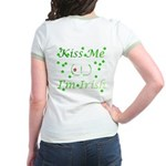 Kiss Me (_!_), I'm Irish Jr. Ringer T-Shirt