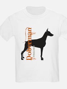 Grunge Doberman Silhouette T-Shirt
