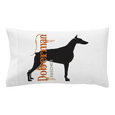 Grunge Doberman Silhouette Pillow Case