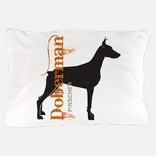 Grunge Doberman Silhouette Pillow Case