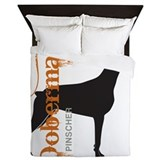 Doberman grunge Queen Duvet Covers
