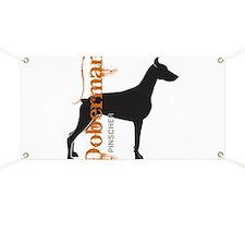Grunge Doberman Silhouette Banner