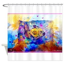 Tropical Fish! Colorful art Shower Curtain