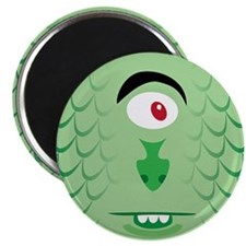 One eyed green sea monster Magnet
