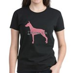 Diamonds Doberman Diva Women's Dark T-Shirt