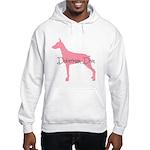 Diamonds Doberman Diva Hooded Sweatshirt