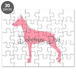 Diamonds Doberman Diva Puzzle